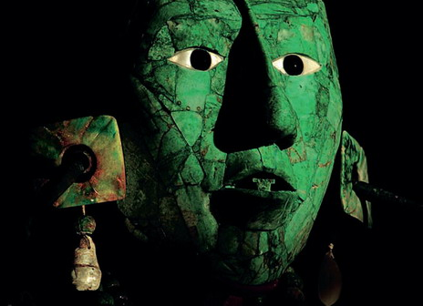 Посмертная маска, сложенная из 340 кусочков нефрита, навеки запечатлела образ правителя Пакаля.