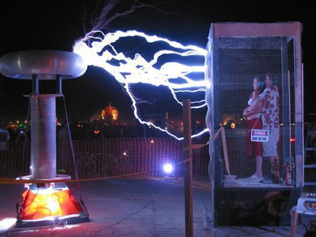 Tesla coils.